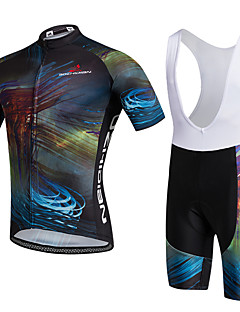 AOZHIDIAN Summer Cycling Jersey Short Sleeves BIB Shorts Ropa Ciclismo Cycling Clothing Suits #AZD131