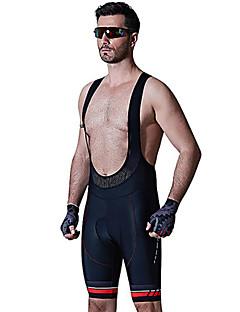SANTIC® Cycling Padded Shorts Men's Breathable 3D Pad Softness Bike Bib Shorts Padded Shorts/Chamois Elastane Chinlon SolidCycling/Bike