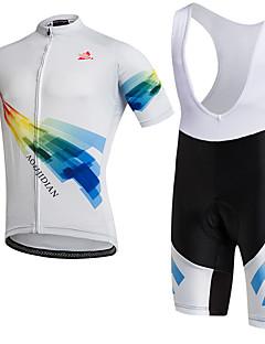 חולצת ג'רסי ומכנס קצר ביב לרכיבה יוניסקס שרוול קצר אופניים נושם ייבוש מהיר עמיד לאבק לביש תומך זיעה דחיסה כיס אחורי נמתח מדים בסטיםטרילן