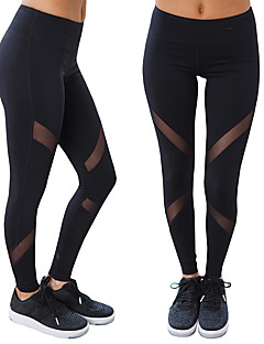 Mulheres Calças de Corrida Respirável Macio Elástico Confortável Meia-calça para Ioga Exercício e Atividade Física Terylene Delgado S M L