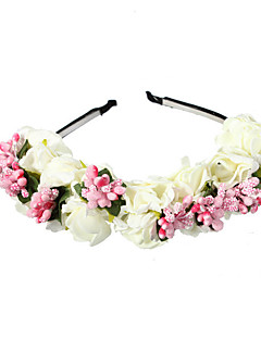 Women's Fabric Hair ClipCute Party Casual Spring Summer Headband Headpiece Head Wreath  Hair Accessories  Flower Girls