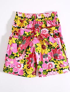 Casual/hétköznapi Pamut Virágos Nyár Tavasz Lány-Nadrágok
