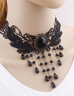 고딕 로리타 목걸이 빈티지 스타일 로리타 액세서리 목걸이 솔리드 에 대한 폴리에스테르