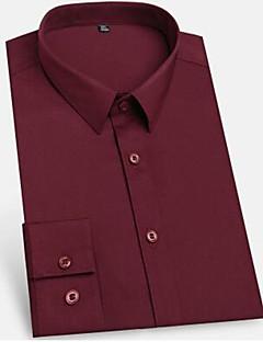 Pánské Jednobarevné Běžné/Denní Práce Jednoduché Košile-Podzim Bavlna Hranatý Dlouhý rukáv Střední