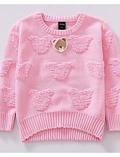 Pullover & Cardigan Lässig/Alltäglich einfarbig Baumwolle Winter Herbst Lange Ärmel Normal