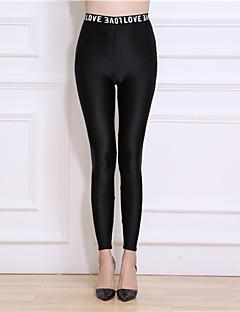 Feminino Cor Única Fino Náilon Cor Única Legging,Este modelo é fiel ao tamanho.