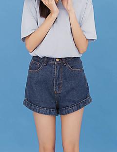 サイン韓国のハイウエストデニムショーツ女性韓国のバージョンは薄いカーリングワイドレッグジーンズショーツ