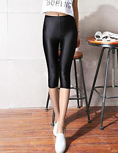 女性 ゼブラプリント ポリエステル 薄 ソリッドカラー レギンス 当スタイルは標準サイズです