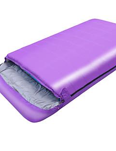 Спальный мешок Прямоугольный Двуспальный комплект (Ш 200 x Д 200 см) -10 -25 T/C хлопок 210X120 Походы Влагонепроницаемый Сохраняет тепло