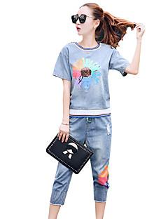 mote denim kortermet todelte bukse dress uformell Sommeren tilstrømming 2016 sommer nye kvinner