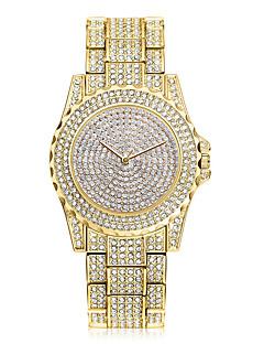 Damen Kleideruhr Modeuhr Armbanduhr Einzigartige kreative Uhr Simultan? Diamant Uhr Chinesisch Quartz / Strass Edelstahl Band Cool Bequem