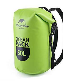 30 L Vízálló Dry Bag Kempingezés és túrázás Mászás Úszás Tengerpart Vízálló Viselhető Medence Lóhere Narancssárga PVC