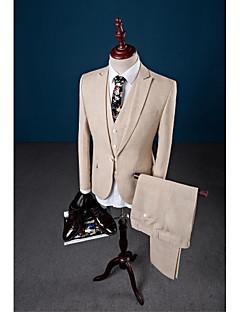 Bež boje jednokomponentni zatvarač lančić tri dijela po mjeri i odijelo za zabavu / večer