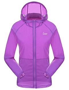 Women's Sun Protection Clothing Camping / Hiking Fishing GolfWaterproof Breathable Quick Dry Ultraviolet Resistant Front Zipper
