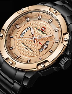 NAVIFORCE Masculino Relógio Esportivo Relógio Militar Relógio de Moda Relógio de Pulso Relógio Casual Japanês QuartzoLED Calendário