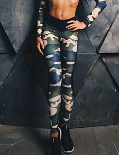Feminino Médio Poliéster Estampada Com Rasgos Legging,Este modelo é fiel ao tamanho.