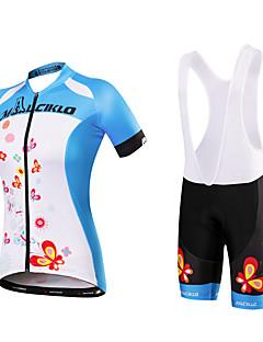 Camisa com Bermuda Bretelle Mulheres Manga Curta Moto Camisa/Roupas Para Esporte Tights Bib Conjuntos de RoupasSecagem Rápida Design