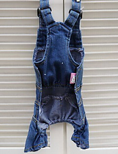 Dog Clothes/Jumpsuit Dog Clothes Fashion Casual/Daily Jeans Dark Blue