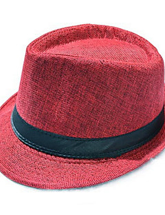 Men Unisex Hat Summer British Gentleman Cap Sir Linen Straw Hat