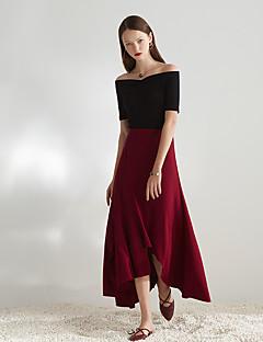 Damen Vintage Einfach Hohe Hüfthöhe Ausgehen Lässig/Alltäglich Party/Cocktail Midi Röcke A-Linie einfarbig All Seasons