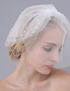 Závoje Tři vrstvy Svatební kloboučky Oříznutý okraj Tyl
