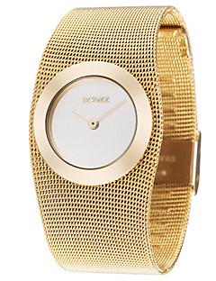 ASJ Damen Kleideruhr Modeuhr Armbanduhr Japanisch Quartz Legierung Kupfer Band Elegante Luxuriös Gold Golden