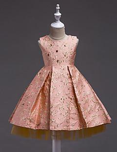 Girl's Floral Dress,Cotton Polyester Summer Short Sleeve