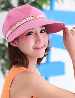Damen Niedlich Freizeit Sommer Herbst Baumwolle Spitze Schlapphut Baseball Kappe Sonnenhut,einfarbig