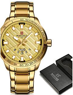 NAVIFORCE Herrn Sportuhr Militäruhr Kleideruhr Modeuhr Armbanduhr Armband-Uhr Armbanduhren für den Alltag JapanischQuartz Japanischer