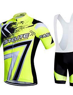 Fastcute Camisa com Bermuda Bretelle Homens Mulheres Crianças Unisexo Manga Curta Moto Calções Bibes Pulôver Camisa/Roupas Para Esporte
