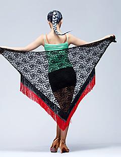 Latinské tance Šátky na břišní tance Dámské Taneční vystoupení Krajka Kov Jeden díl Šátek přes boky