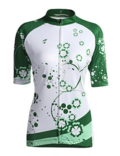 GETMOVING חולצת ג'רסי לרכיבה לנשים שרוול קצר אופניים ג'רזי צמרות נושם כיס אחורי קרם הגנה Coolmax קלאסי אביב קיץ סתיורכיבה על