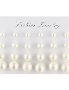 Men's Women's Stud Earrings Elegant Costume Jewelry Pearl Imitation Pearl Imitation Diamond Drop Ball Jewelry For Daily Casual