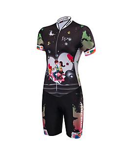Tri Suit Women's Short Sleeve Bike Triathlon/Tri SuitAnatomic Design Moisture Permeability Front Zipper High Breathability (>15,001g)