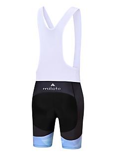 Miloto Bermudas Bretelle Mulheres Moto Calções Bibes Shorts Acolchoados Ciclismo Elastano Poliéster Ciclismo Primavera/Outono VerãoBranco