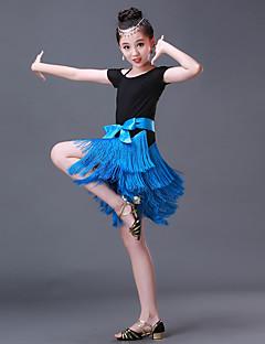 Zullen we latijns dansen jurkjes spandex splicing korte mouw hoog