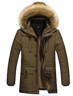 コート レギュラー パッド入り メンズ,日常 ソリッド コットン その他 ポリプロピレン-シンプル 長袖