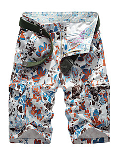 Men's Mid Rise Micro-elastic Shorts Pants,Simple Straight Pure Color Print