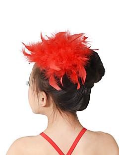 Аксессуары для танцев Украшения для волос Детские Учебный  Перья Перья или мех
