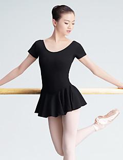Danse classique justaucorps Femme Entraînement Spandex 1 Pièce Manche courte Taille haute Collant