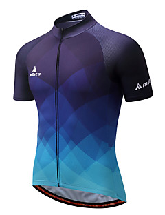 Miloto Cycling Jersey Men's Short Sleeves Bike Jersey Reflective Strip Quick Dry Breathability Stretchy Polyester Coolmax Spring/Fall