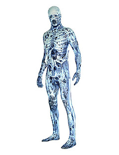 חליפות Zenta רובין הוד /גולגולתשלד רוח זומבי ערפדים Zentai תחפושות קוספליי סגול וינטאג' /סרבל תינוקותבגד גוף Zentai Lycra® יוניסקס