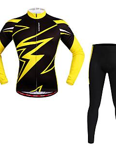 WOSAWE Calça com Camisa para Ciclismo Unisexo Manga Longa Moto Conjuntos de Roupas Pavio Humido Secagem Rápida Tiras Refletoras Elastano