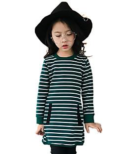 Mädchen T-Shirt Streifen Baumwolle Herbst Ganzjährig Lange Ärmel Normal