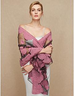 Wickeltücher für Frauen Schals Chiffon Hochzeit Party / Abend Applikation Blumig Blume