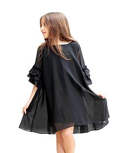女の子の ゼブラプリント シフォン ドレス 夏