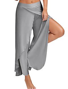 Damen Einfach Aktiv Mittlere Hüfthöhe Mikro-elastisch Breites Bein Breites Bein Hose,Geschlitzt Solide