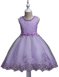 ball gown lyhyt / mini kukka tyttö mekko - organza hihaton jalokivi kaulana ja paljetteja ydn