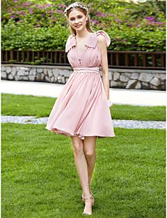2017 LAN TING BRIDE Knee Length Strapless Bridesmaid Dress - Convertible Dress Sleeveless Chiffon