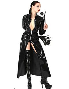 Întuneric Regina Negru din piele PU uniforme Sexy